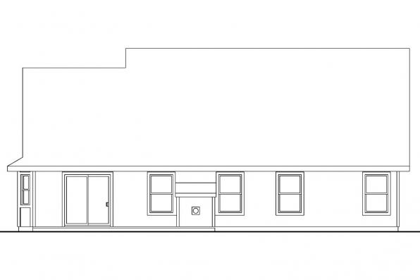 Cottage House Plan - Radbourne 30-562 - Rear Elevation