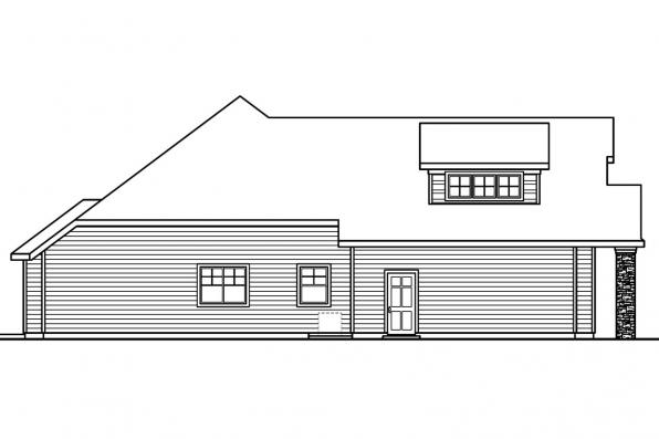 Cottage House Plan - Saddlebrook 30-616 - Right Elevation