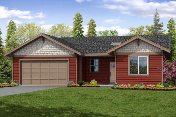 Cottage House Plan - Siuslaw 31-065 - Front Elevation