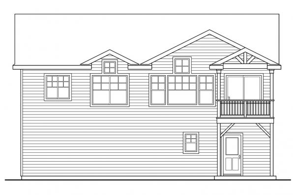 Cottage House Plan - Snowberry 30-735 - Rear Elevation