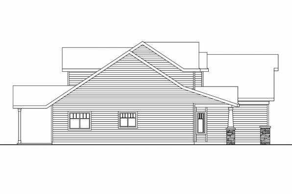 Cottage House Plan - Sturnbridge 30-663 - Right Elevation