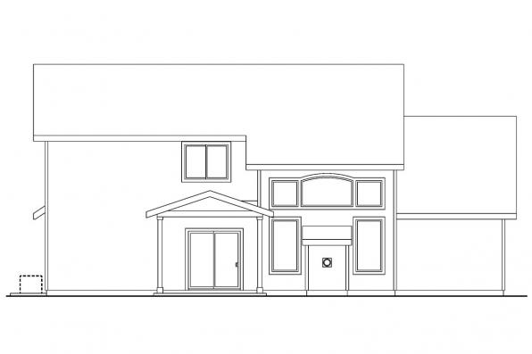 Cottage House Plan - Westdale 30-572 - Rear Elevation