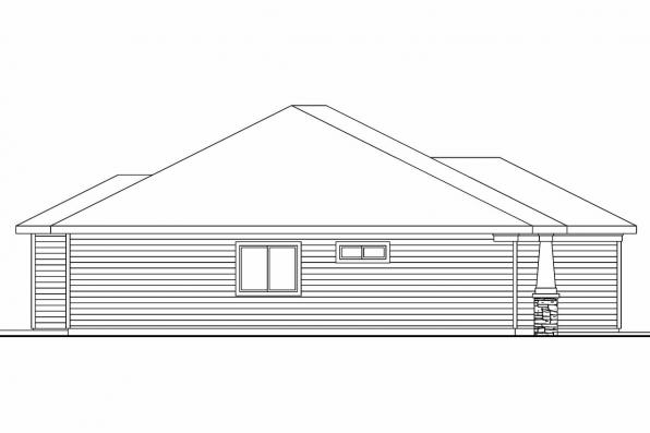 Cottage House Plan - Wheatfield 30-673 - Right Elevation