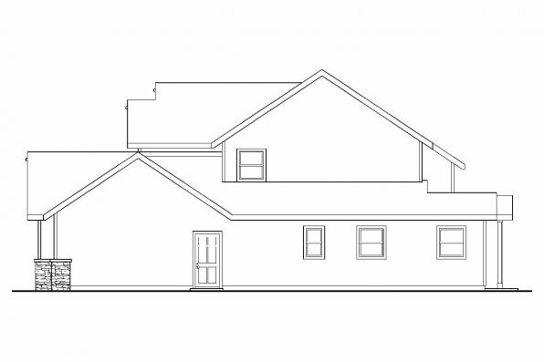 Cottage House Plan - Yellowwood 30-728 - Left Elevation