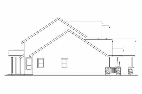 Cottage House Plan - Yellowwood 30-728 - Right Elevation