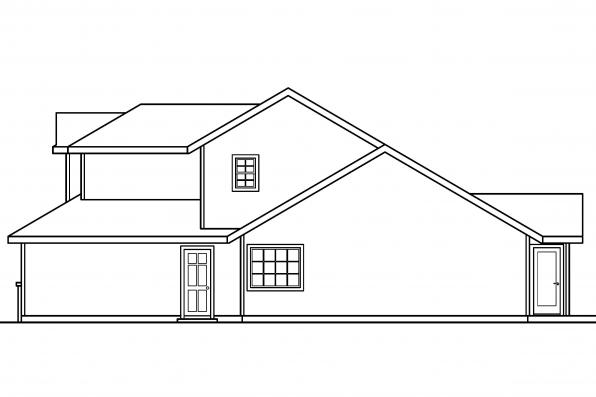 Country Home Plan - McBride 30-488 - Left Elevation