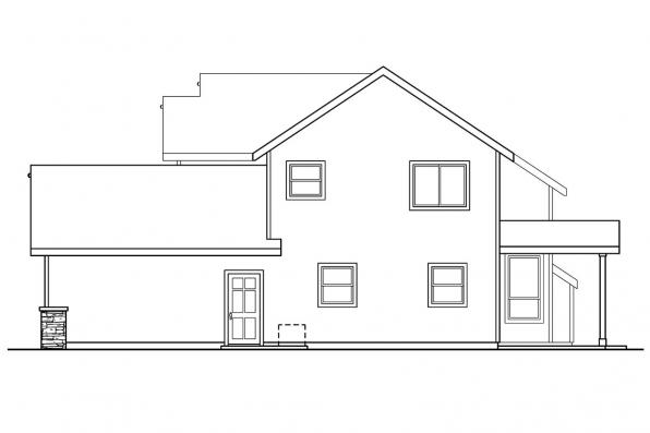 Country House Plan - Westdale 30-572 - Left Elevation