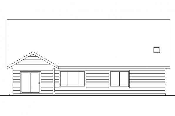 Country House Plan - Allenspark 30-700 - Rear Elevation
