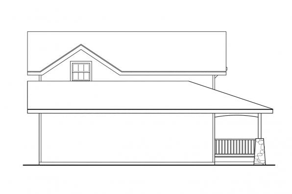 Country House Plan - Alvarado 41-002 - Right Elevation