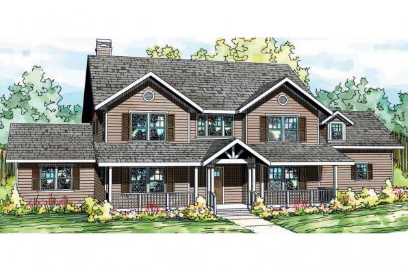 Country House Plan - Ambrosia 30-752 - Front Elevation