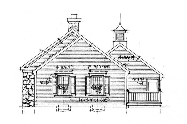 Country House Plan - Ayersville 42-002 - Left Elevation