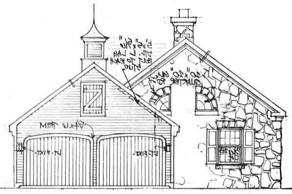 Country House Plan - Ayersville 42-002 - Right Elevation