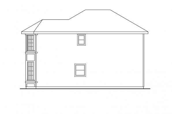 Country House Plan - Baywood 30-118 - Left Elevation
