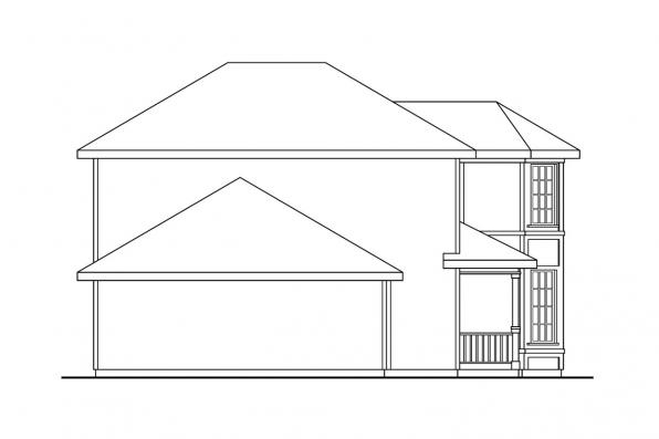 Country House Plan - Baywood 30-118 - Right Elevation