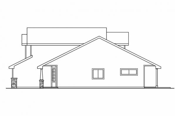 Country House Plan - Bigsby 30-642 - Left Elevation