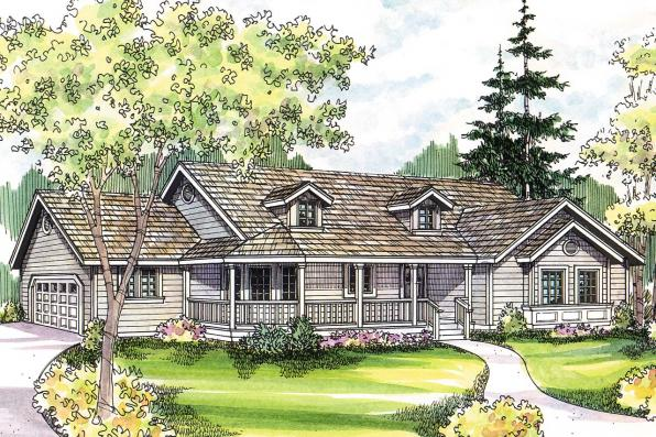 Country House Plan - Briarton 30-339 - Front Elevation