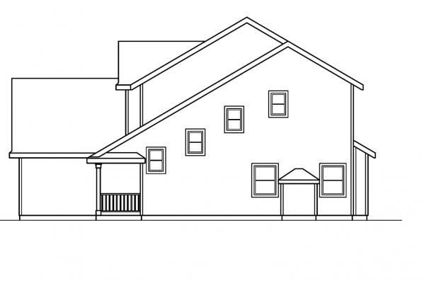 Country House Plan - Brighton 30-331 - Left Elevation