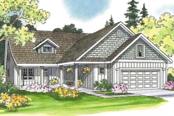 Country House Plan - Bryson 30-204 - Front Elevation