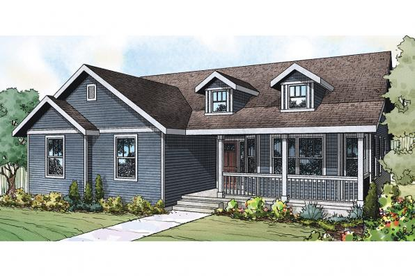 Country House Plan - Callahan 30-886 - Front Elevation
