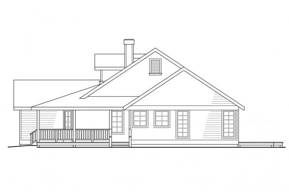 Craftsman House Plans - Cambridge 10-045 - Associated Designs