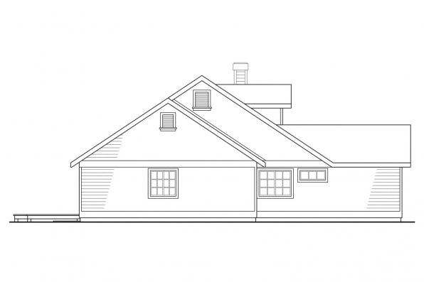 Country House Plan - Cambridge 10-045 - Right Elevation