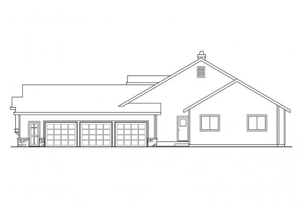 Country House Plan - Cameron 10-338 - Left Elevation