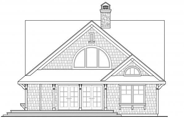 Country House Plan - Cedar View 50-012 - Left Elevation