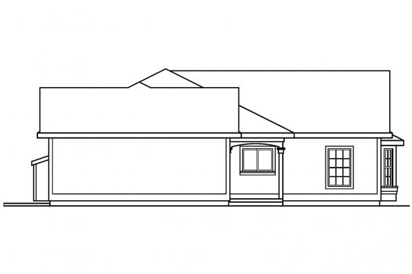 Country House Plan - Corinth 30-325 - Right Elevation
