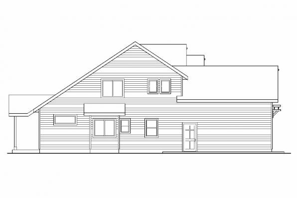 Country House Plan - Elkhorn 30-733 - Right Elevation
