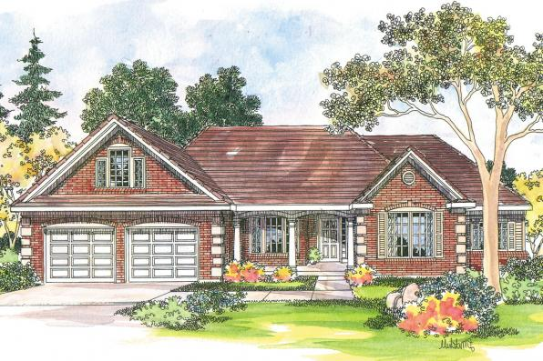 Country House Plan - Elmore 30-168 - Front Elevation