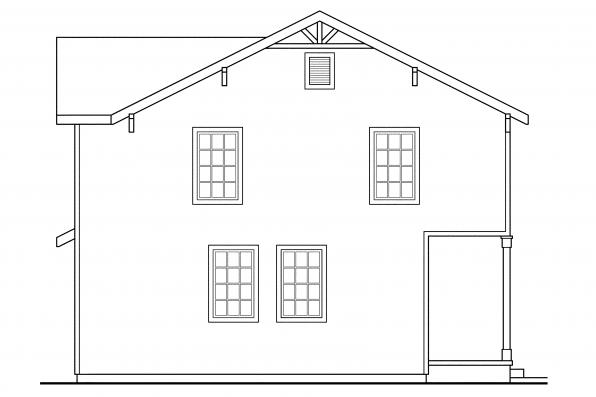 Country House Plan - Emerson 30-108 - Left Elevation