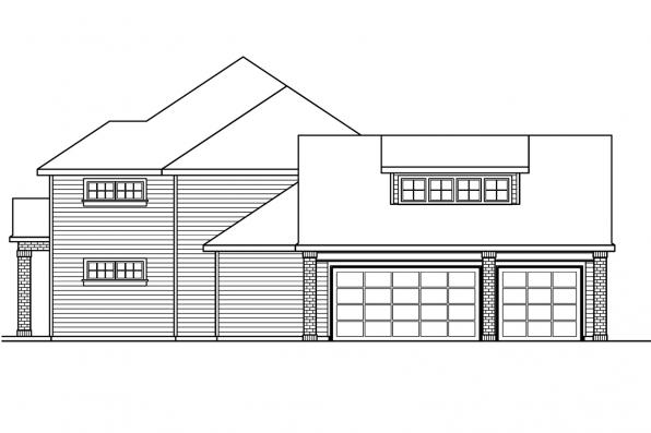 Country House Plan - Fairbanks 30-648 - Left Elevation