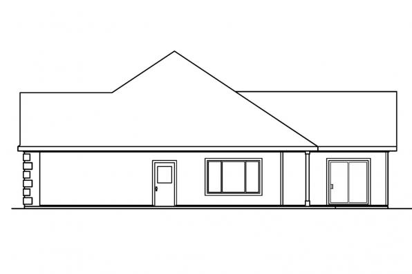 Country House Plan - Finley 30-364 - Left Elevaiton