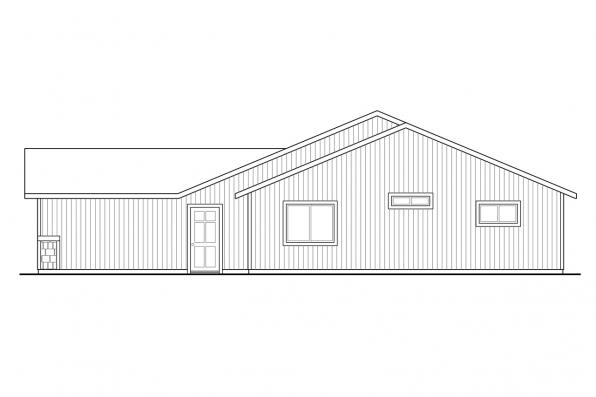 Country House Plan - Foster 30-846 - Left Elevation