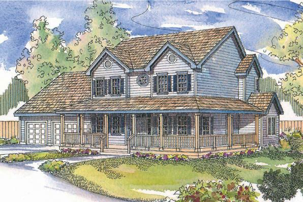 Country House Plan - Gifford 30-363 - Front Elevation