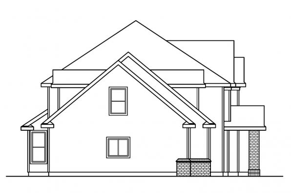 Country House Plan - Glenhurst 30-372 - Right Elevation