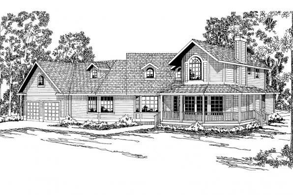 Country House Plan - Hayward 10-134 - Front Elevation