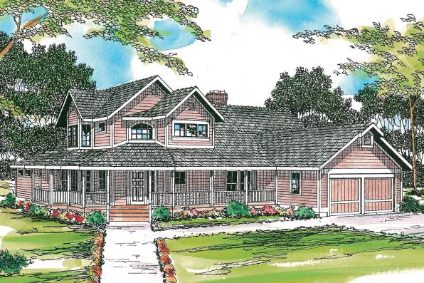 Country House Plan - Hearthstone 10-200 - Front Elevation