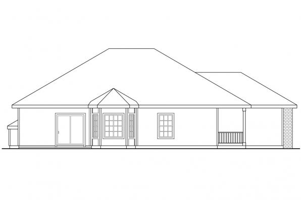 Country House Plan - Holly 30-115 - Right Elevation