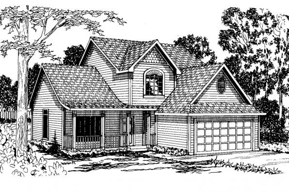 Country House Plan - Hudson 30-086 - Front Elevation