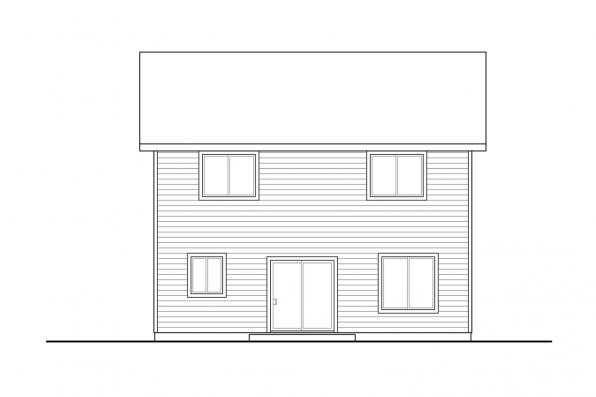 Country House Plan - Juneberry 31-107 - Rear Elevation