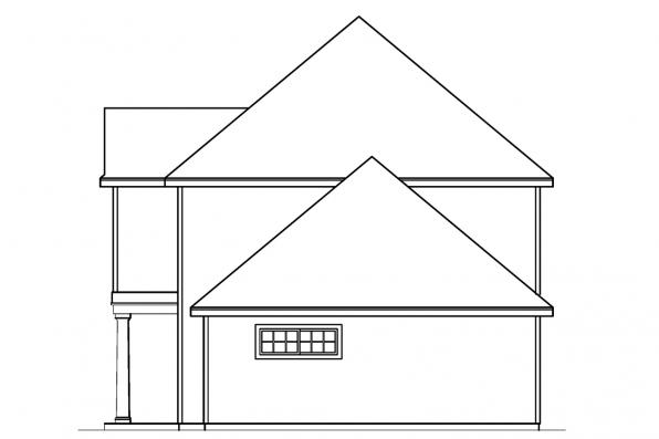 Country House Plan - Lansford - 30-314 - Left Elevation