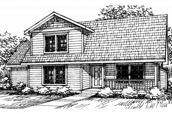 Country House Plan - Lockhart 30-104 - Front Elevation
