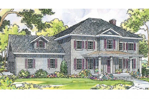 Country House Plan - Lorane 30-107 - Front Elevation