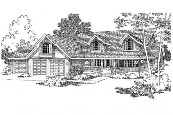 Country House Plan - Loveland 30-282 - Front Elevation