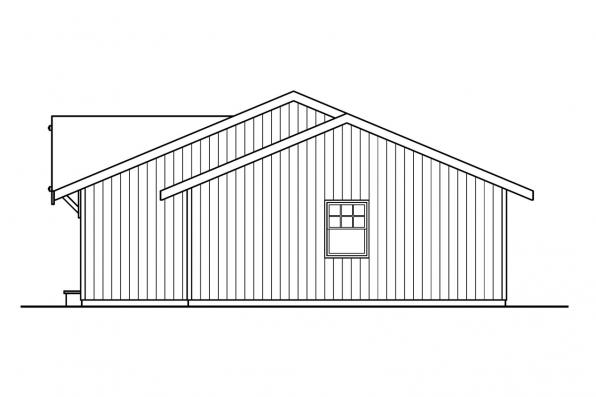 Country House Plan - Mackay 30-459 - Left Elevation