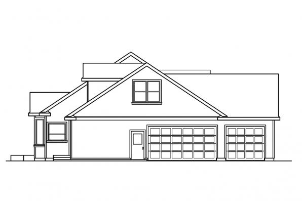 Country House Plan - Maxwell 30-458 - Right Elevation
