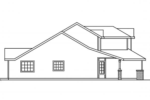 Country Home Plan - McBride 30-488 - Right Elevation