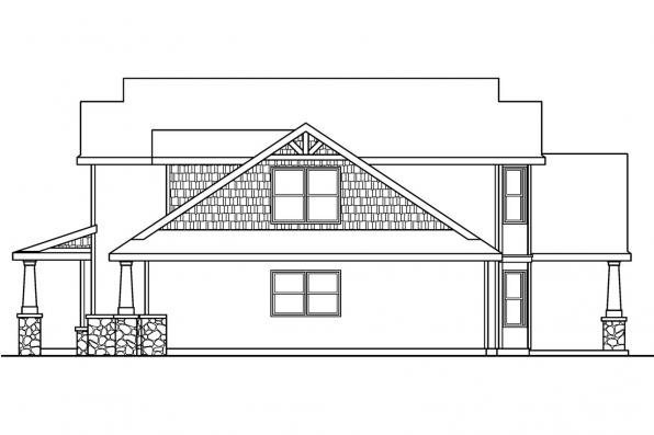 Country House Plan - Montego 30-612 - Left Elevation