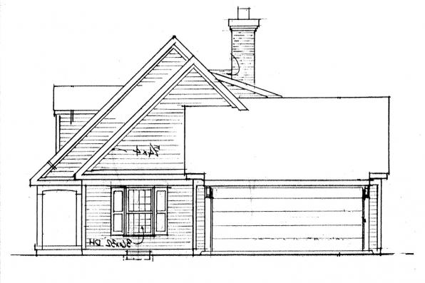 Traditional House Plan - Kinderhook 42-003 - Left Elevation